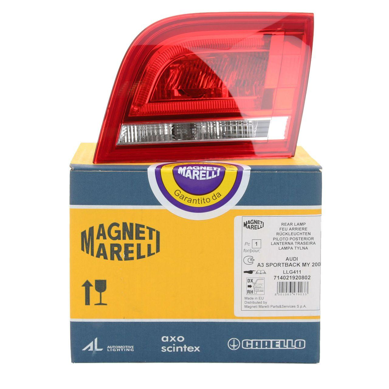 MAGNETI MARELLI Heckleuchte LED AUDI A3 S3 RS3 (8PA) Sportback rechts innen