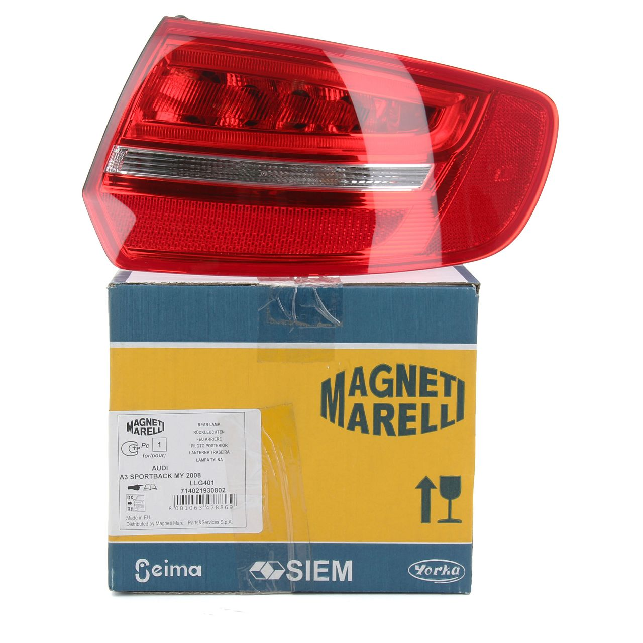 MAGNETI MARELLI Heckleuchte LED AUDI A3 S3 RS3 (8PA) Sportback rechts aussen