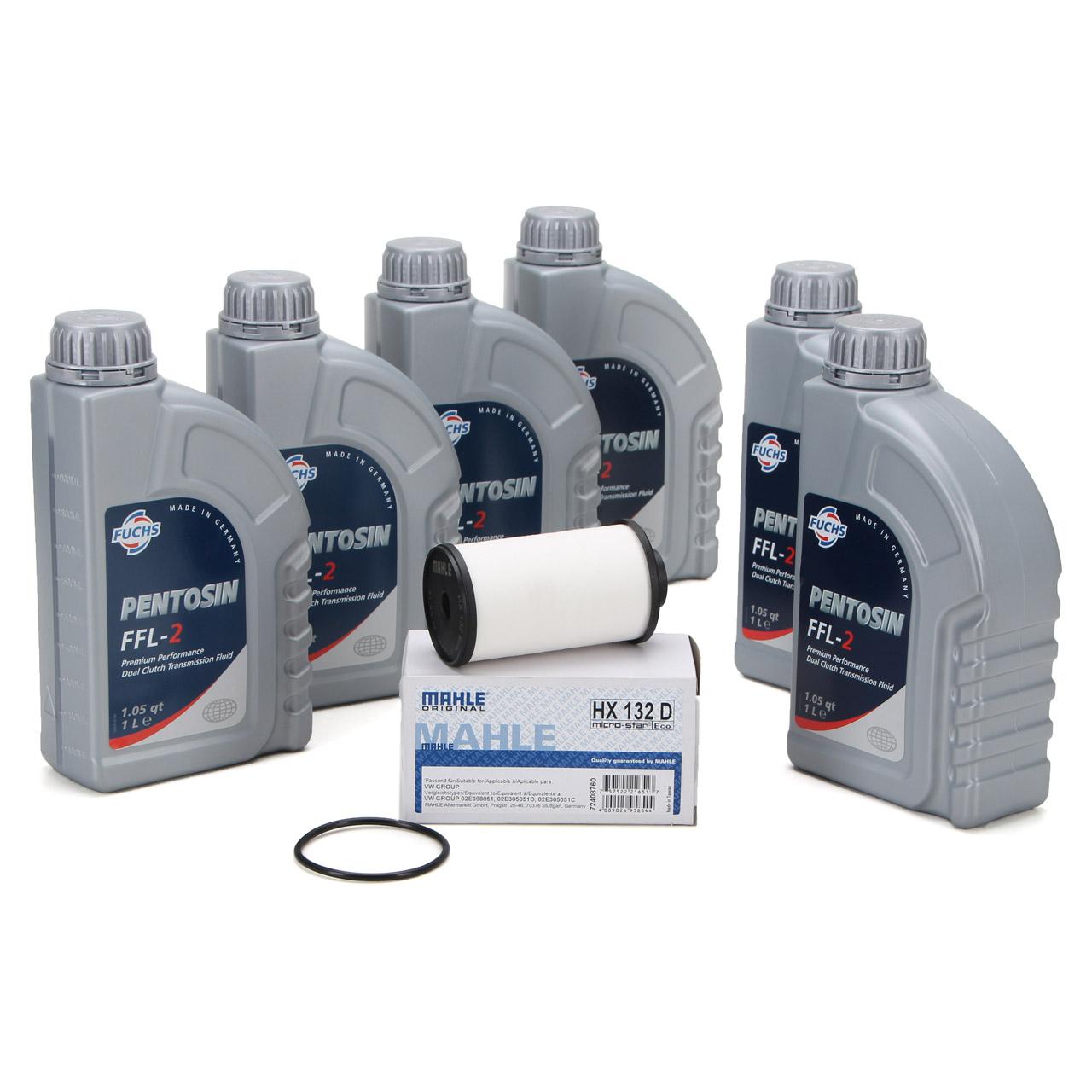 FUCHS Pentosin Getriebeöl DSG FFL-2 - 6L 6 Liter + MAHLE Getriebefilter für VAG