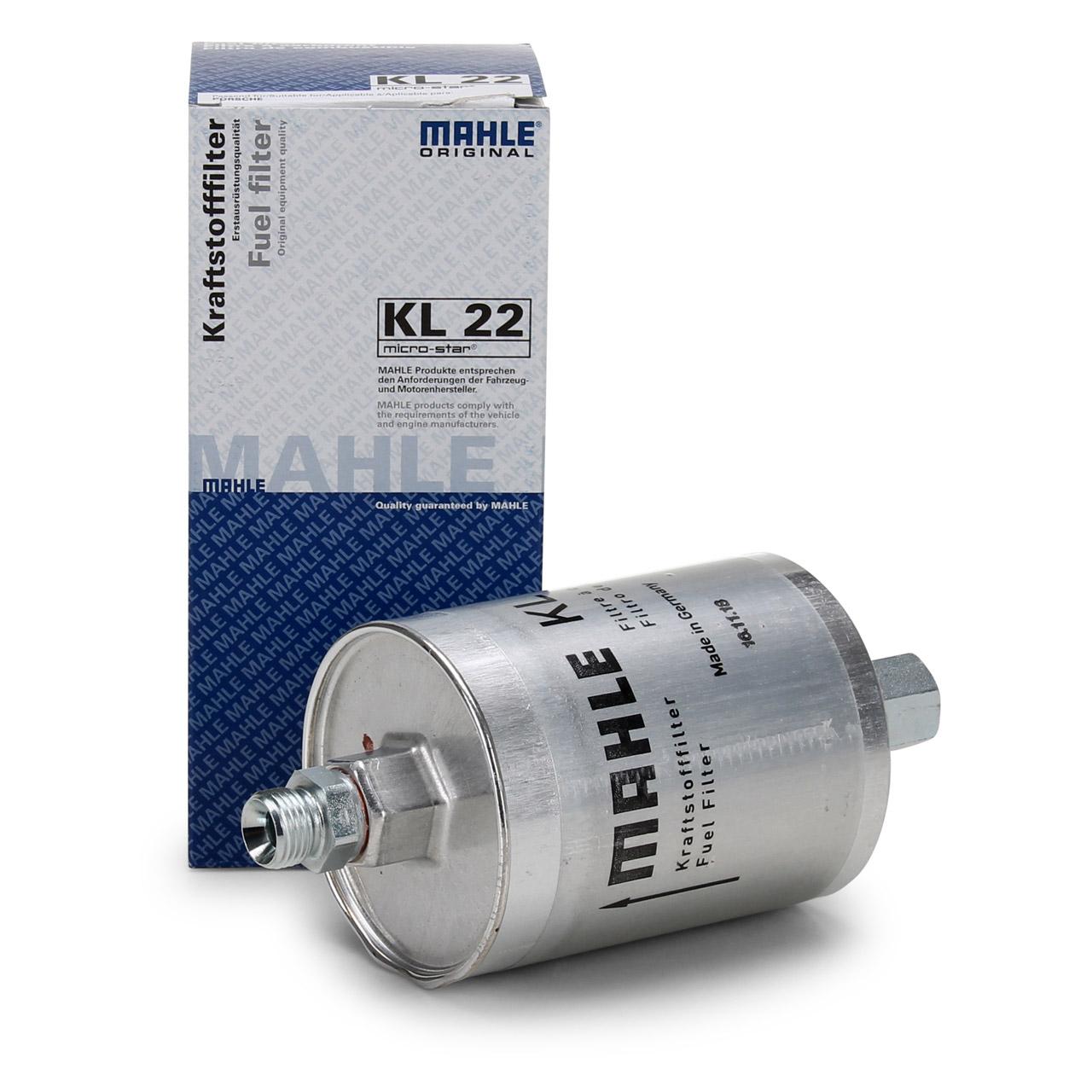 KNECHT / MAHLE KL22 Kraftstofffilter für PORSCHE 911 3.0 SC Carrera + 3.3 Turbo