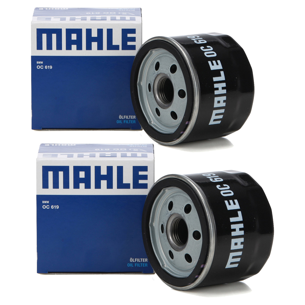 2x KNECHT / MAHLE OC619 Ölfilter für BMW MOTORCYCLES R1200 GS / RS 125 PS
