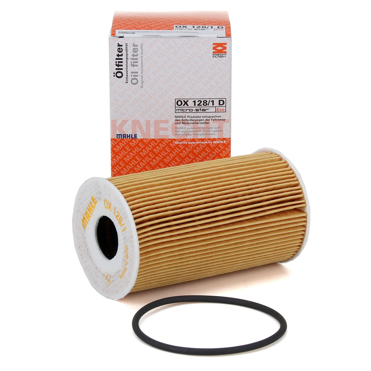 KNECHT / MAHLE OX128/1D Ölfilter für PORSCHE 911 996 997 BOXSTER CAYMAN CAYENNE