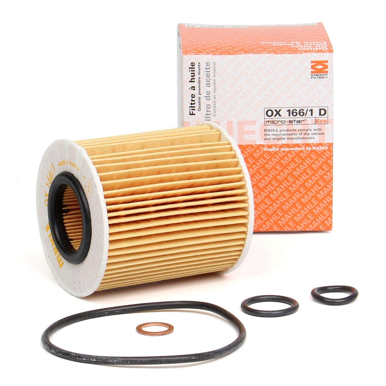 MAHLE Ölfilter + Dichtung für BMW 1er E81 E87 116-120i 3er E46 316-318i OX166/1D