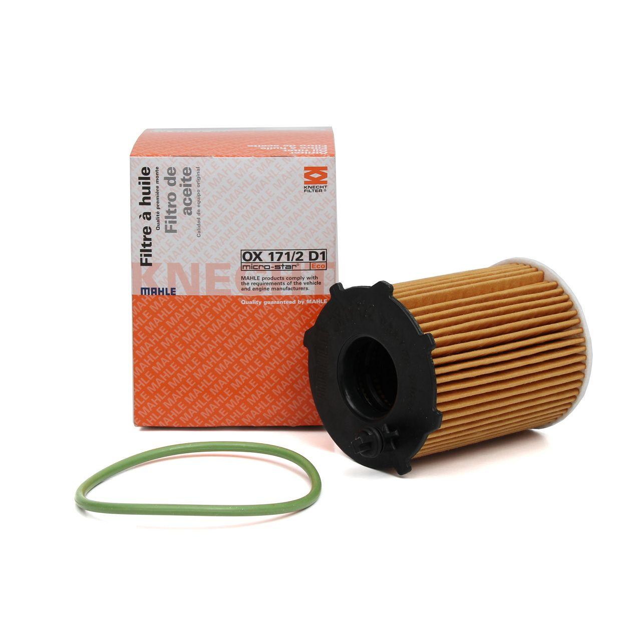 KNECHT / MAHLE OX171/2D1 Ölfilter CITROEN DS3 1.6HDi PEUGEOT 308 2 1.6HDi 1610693780