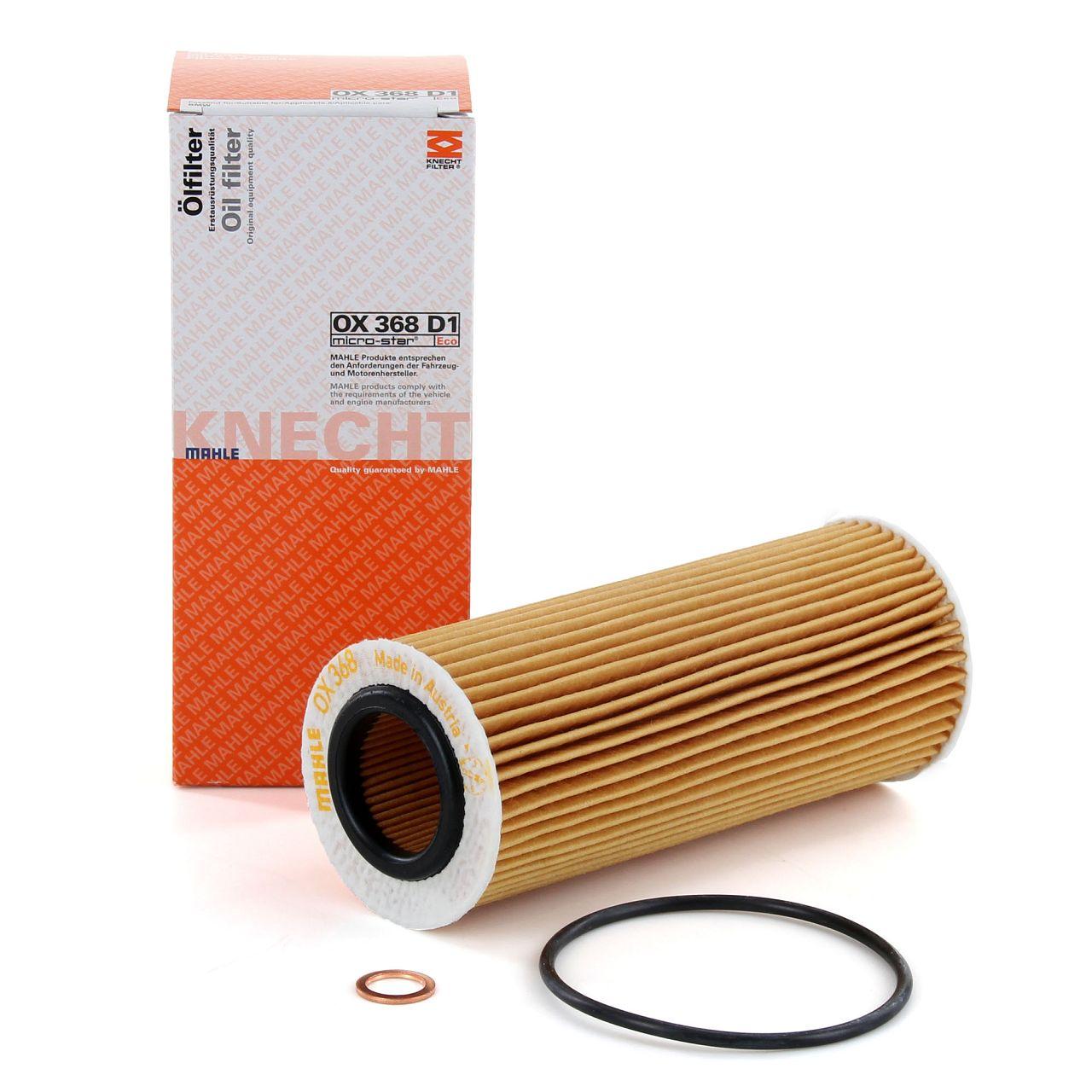 KNECHT / MAHLE Ölfilter OX368D1 für BMW E87 E46 E90 E91 E60 E61 E65-67 X3 E83