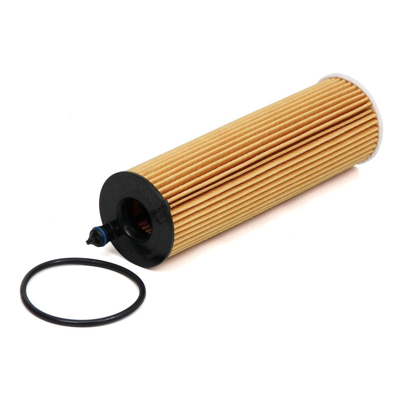 KNECHT / MAHLE Ölfilter OX823/6D für MERCEDES E-KLASSE W213 E220d 163/194 PS