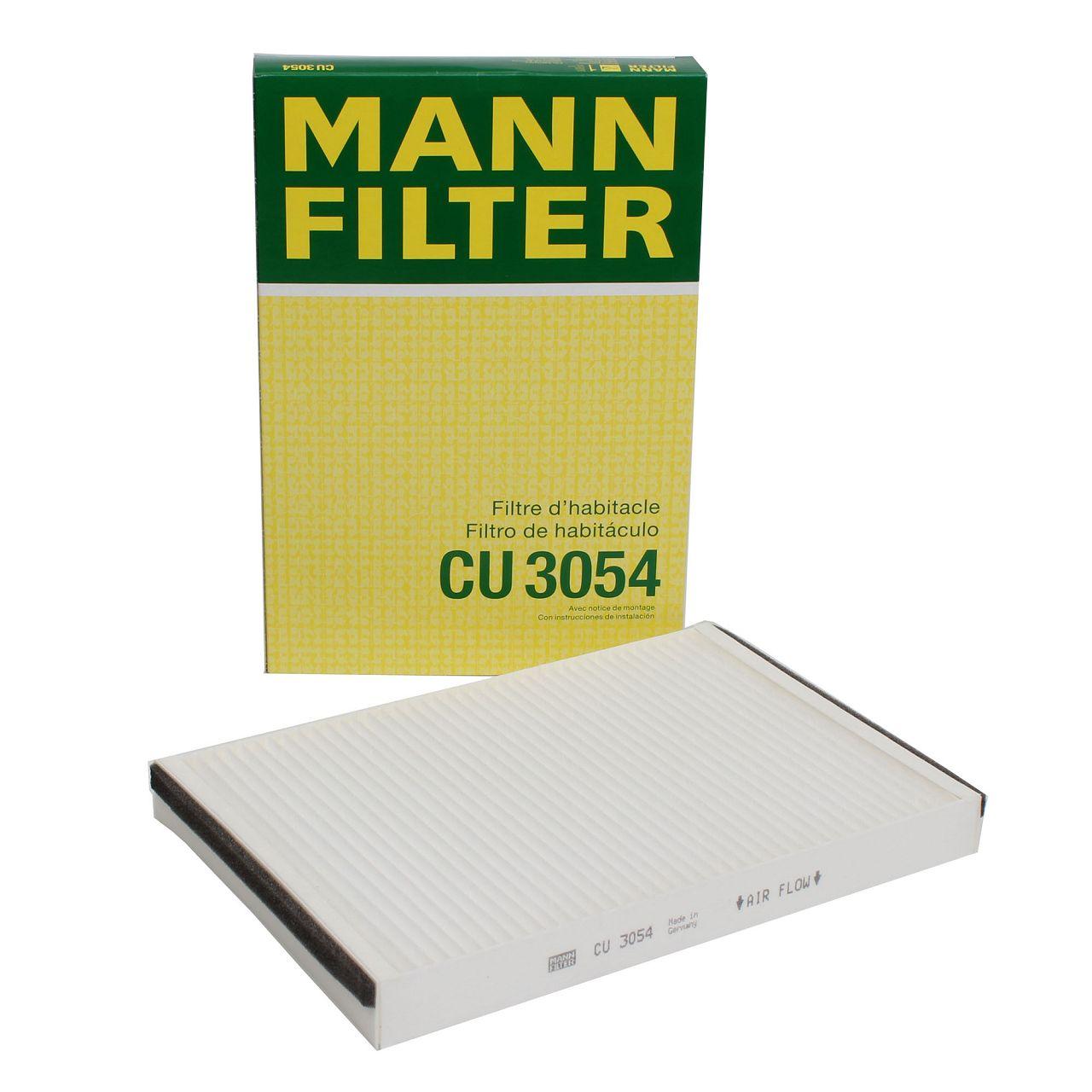 MANN Innenraumfilter Pollen Partikelfilter CU3054 für Opel Astra G H Zafira A