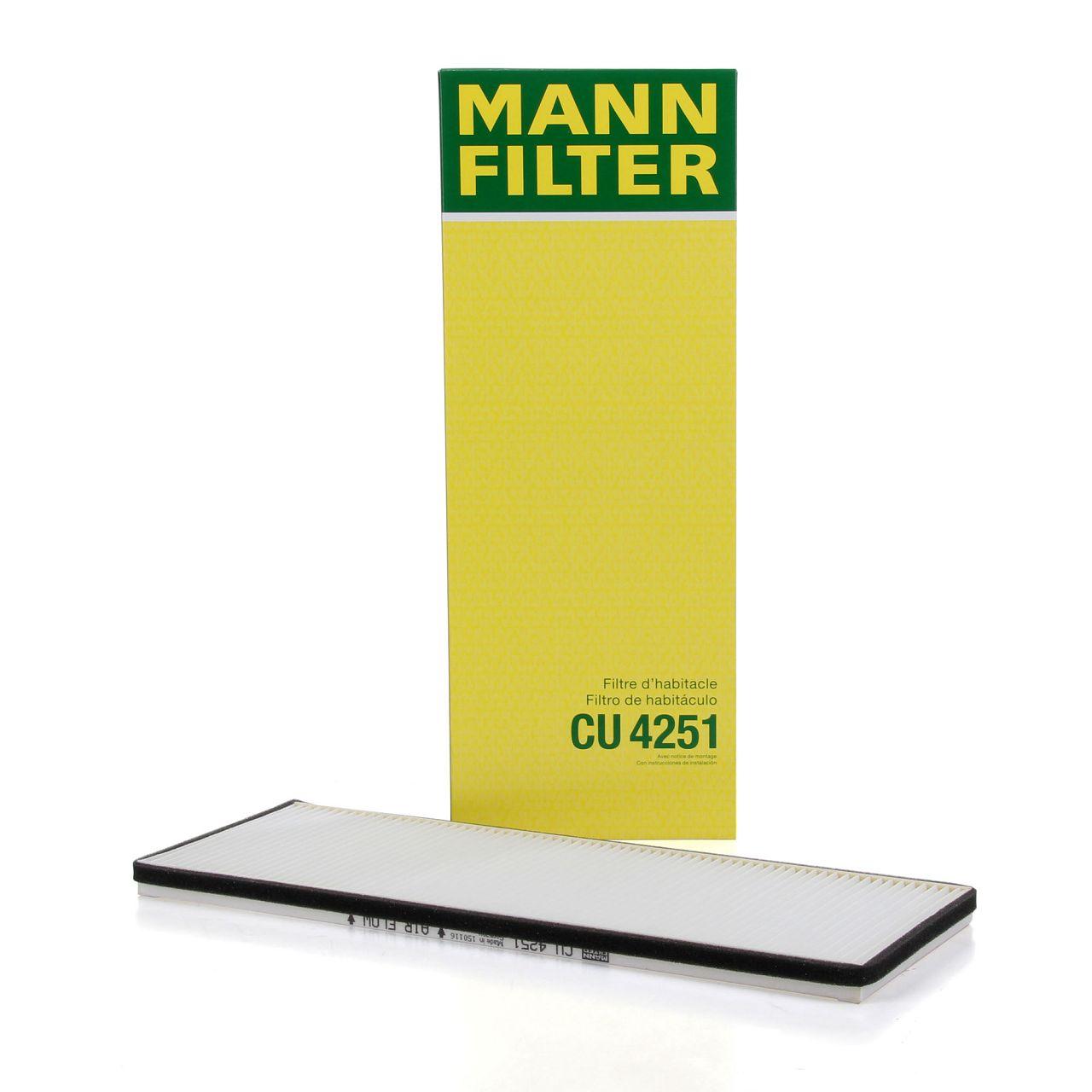 MANN Innenraumfilter Pollenfilter Partikelfilter CU4251 für Opel Astra F Corsa B