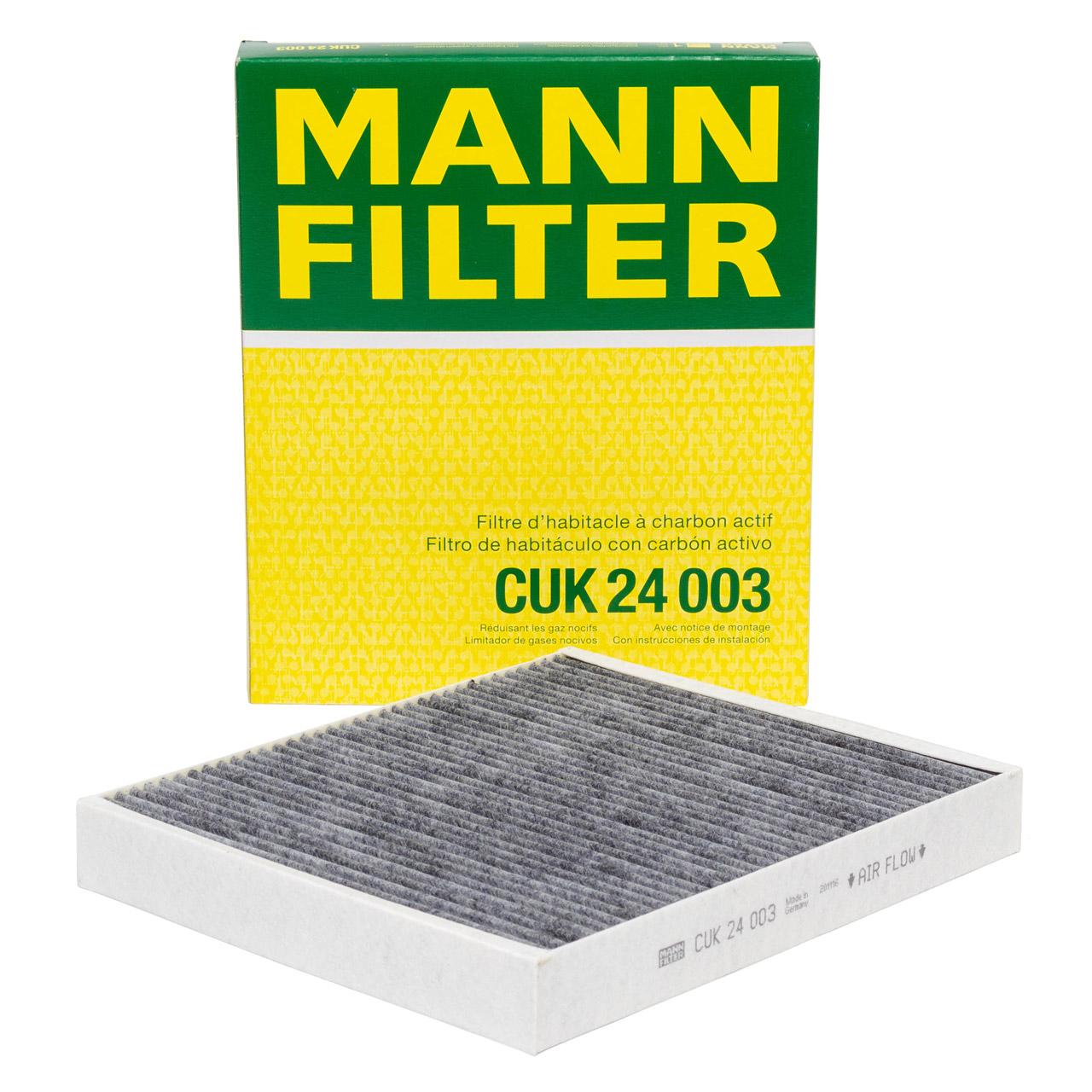 MANN CUK24003 Innenraumfilter Aktivkohle OPEL Astra K Insignia B Meriva B Mokka / X