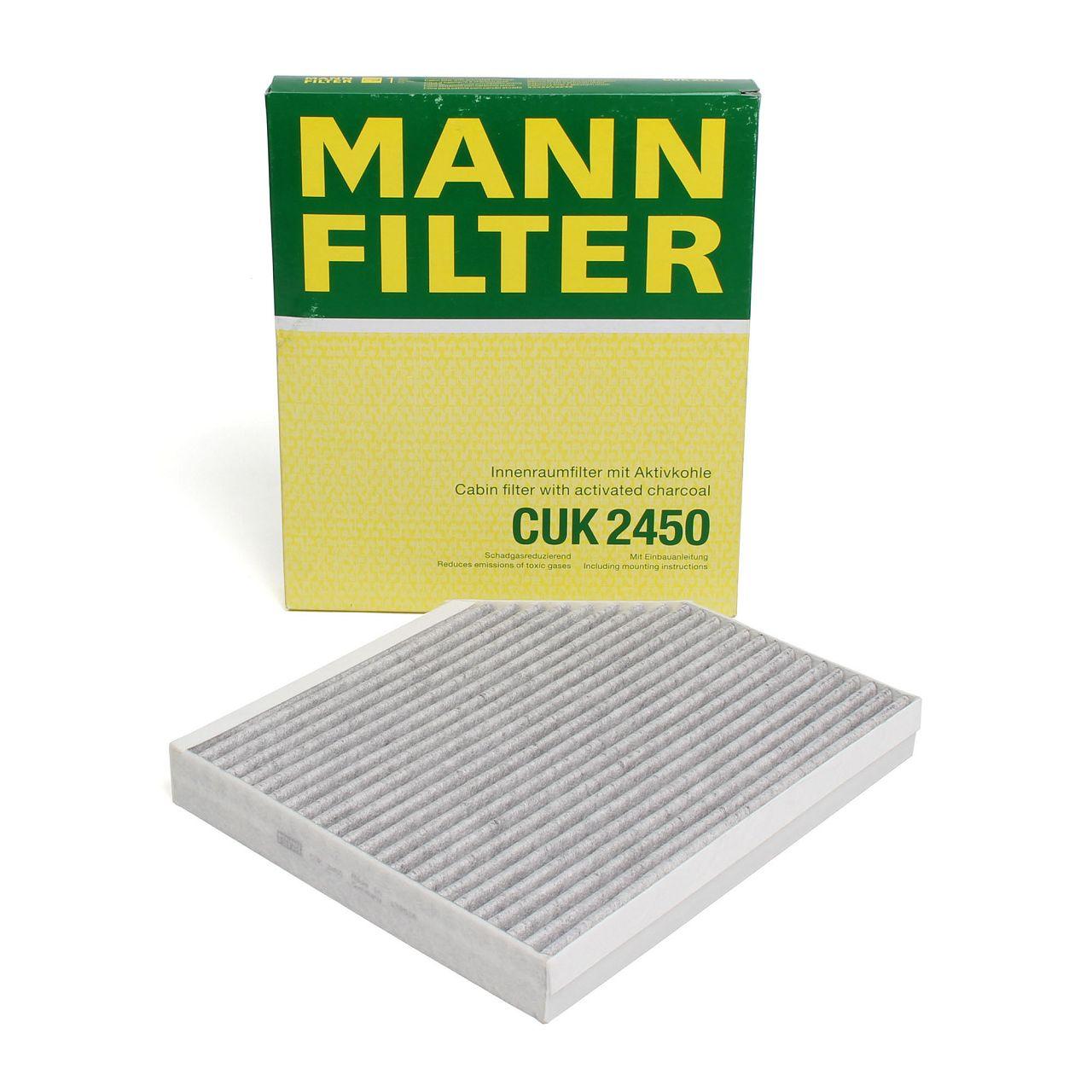 MANN Innenraumfilter Aktivkohle CUK2450 für AUDI A4 B8 A5 Q5 8R PORSCHE MACAN