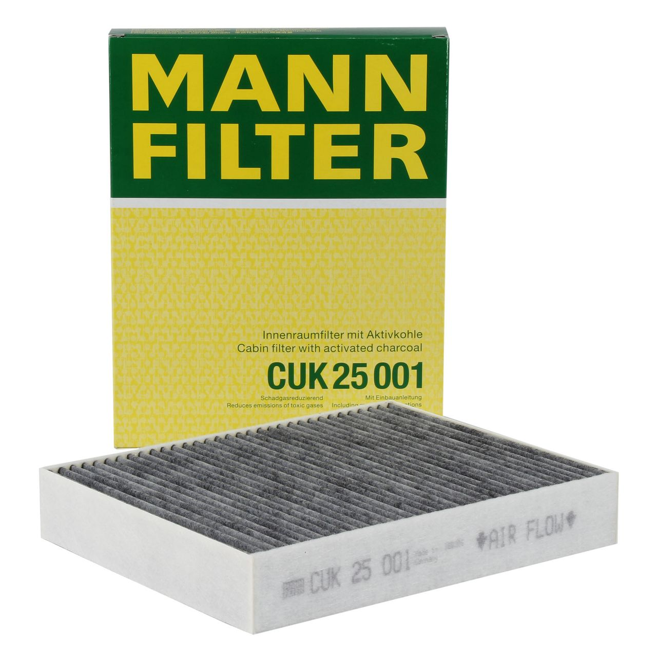 MANN Innenraumfilter Aktivkohle CUK25001 für BMW F20 F21 F22 F23 F30-34 F32-36