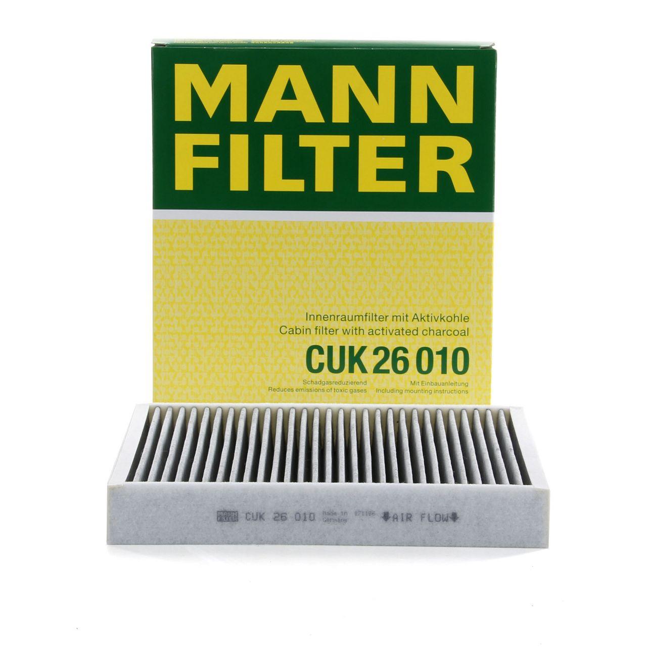 MANN Innenraumfilter Aktivkohle CUK26010 für AUDI A1 SEAT SKODA VW POLO 6R 6C