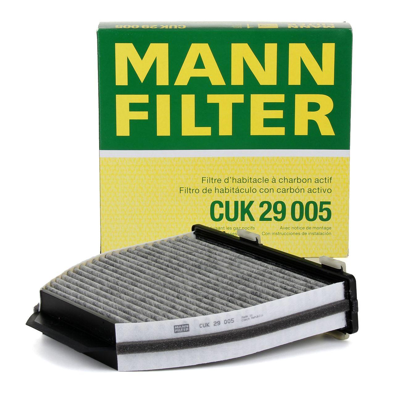 MANN Innenraumfilter Aktivkohlefilter CUK29005 für MERCEDES W204 W212 X204 R231
