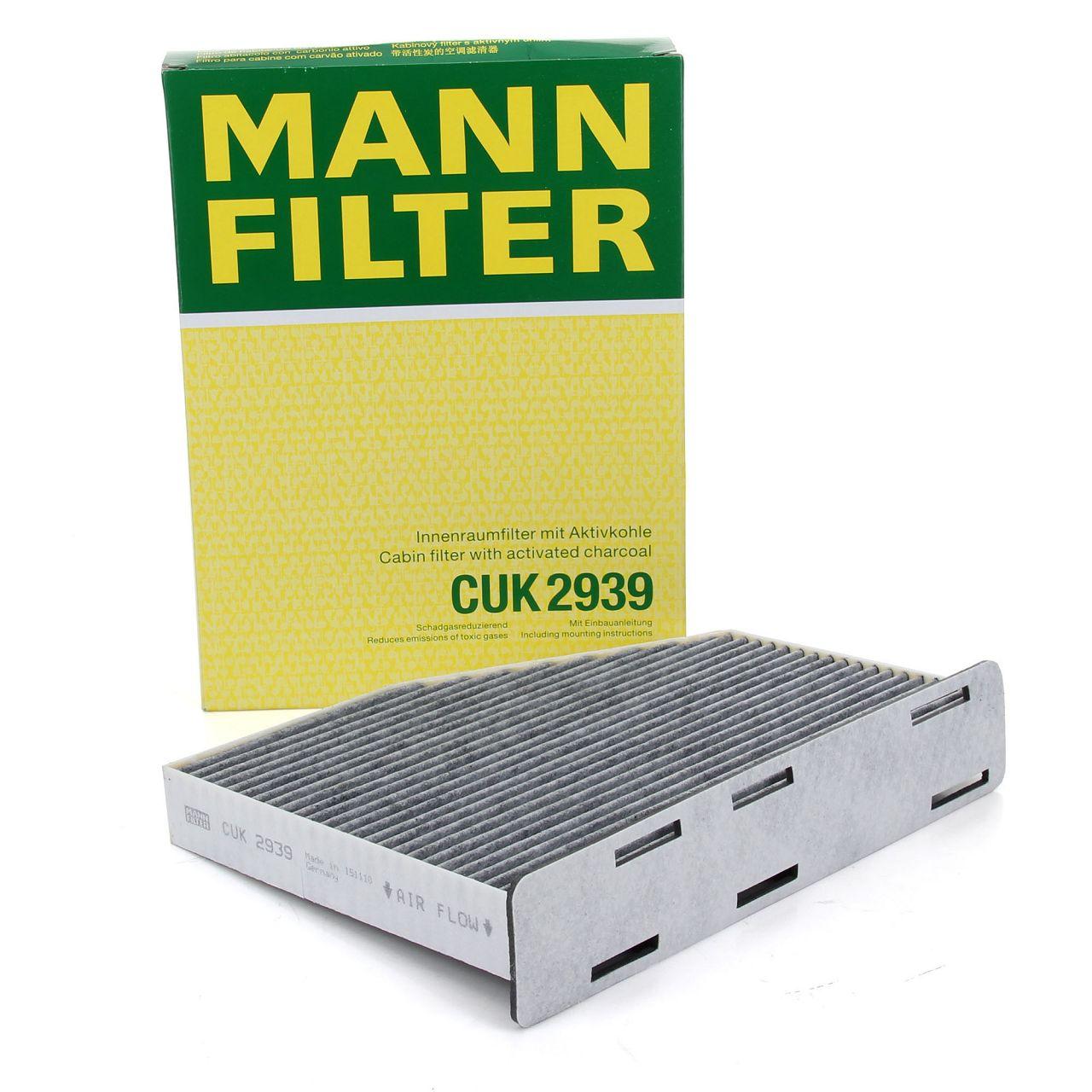MANN Innenraumfilter Pollen Aktivkohlefilter CUK2939 für AUDI SEAT SKODA VW