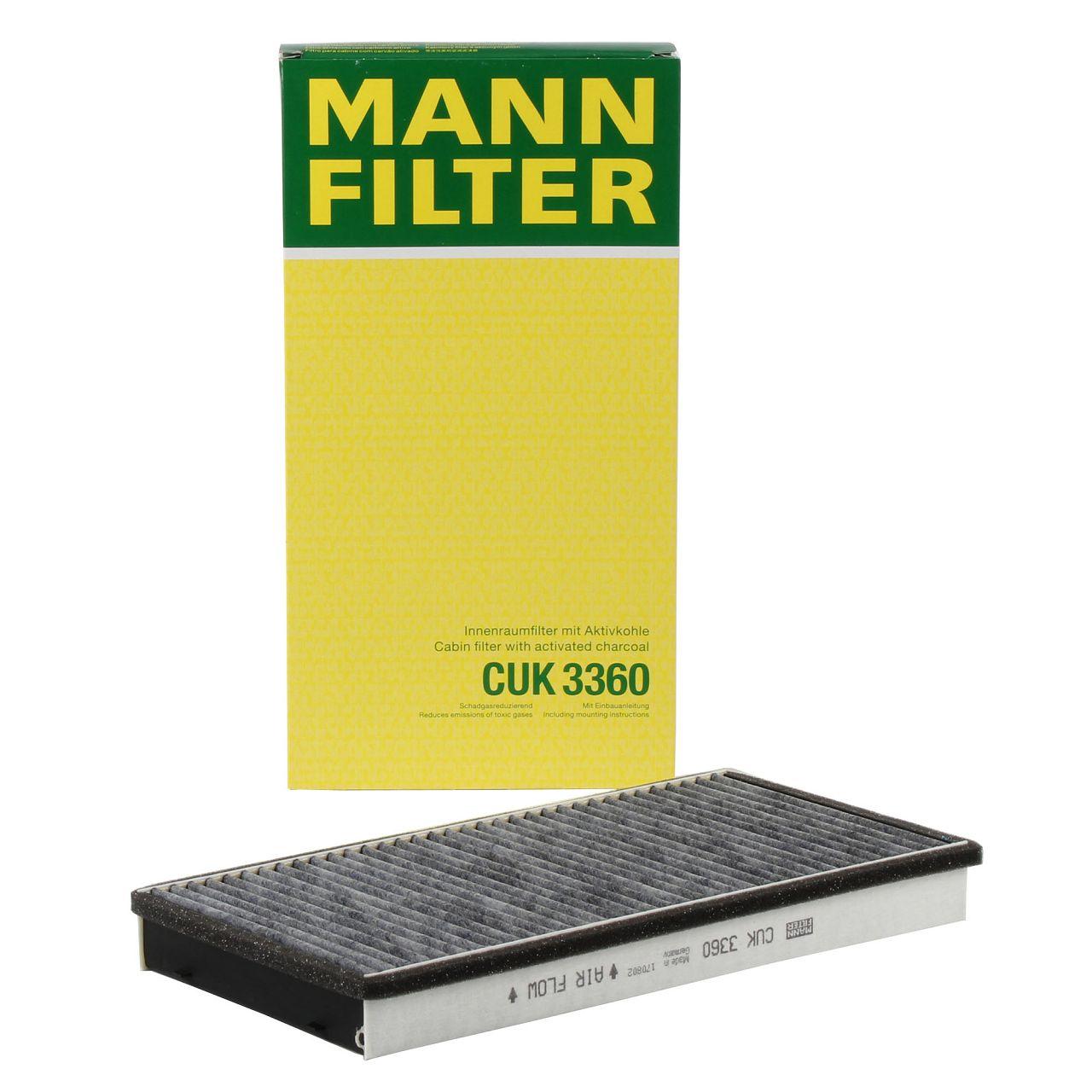 MANN Innenraumfilter Aktivkohle für PORSCHE 911 996 997 BOXSTER CAYMAN 986 987