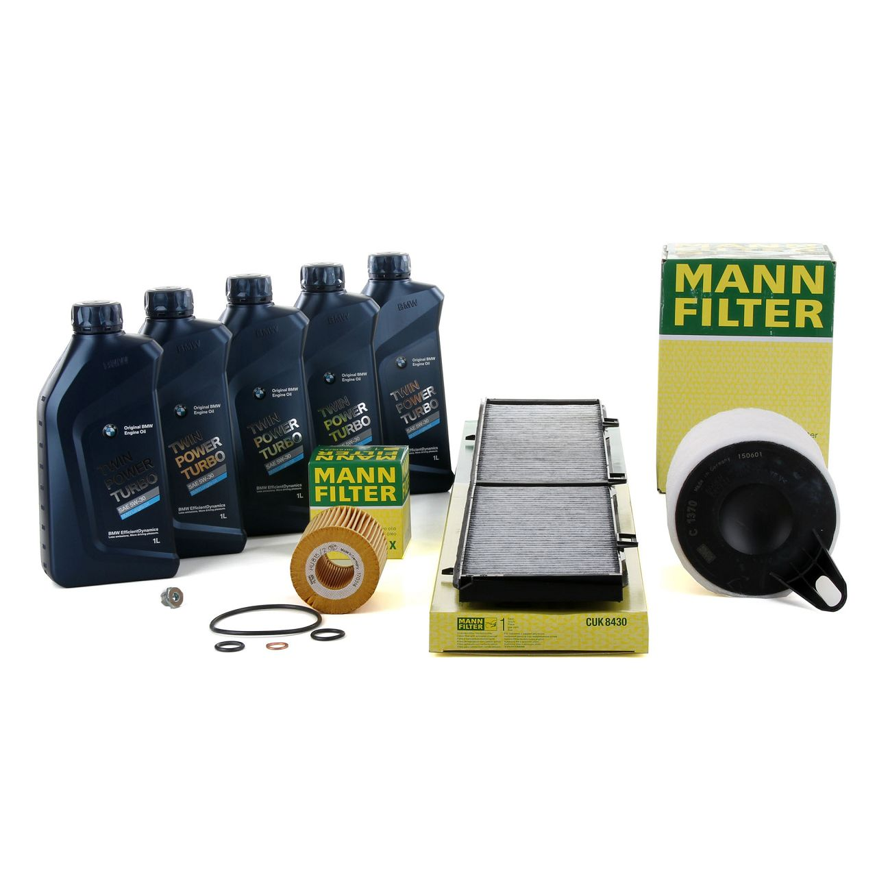 MANN Inspektionskit + 5 L ORIGINAL für BMW 5W30 Motoröl E81 E87 116i E90-92 316i