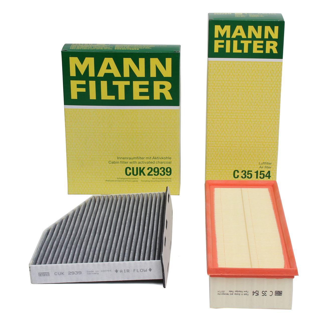 MANN Filterset für AUDI A3 8P Q3 TT SEAT SKODA VW GOLF 5 6 PASSAT TIGUAN TOURAN