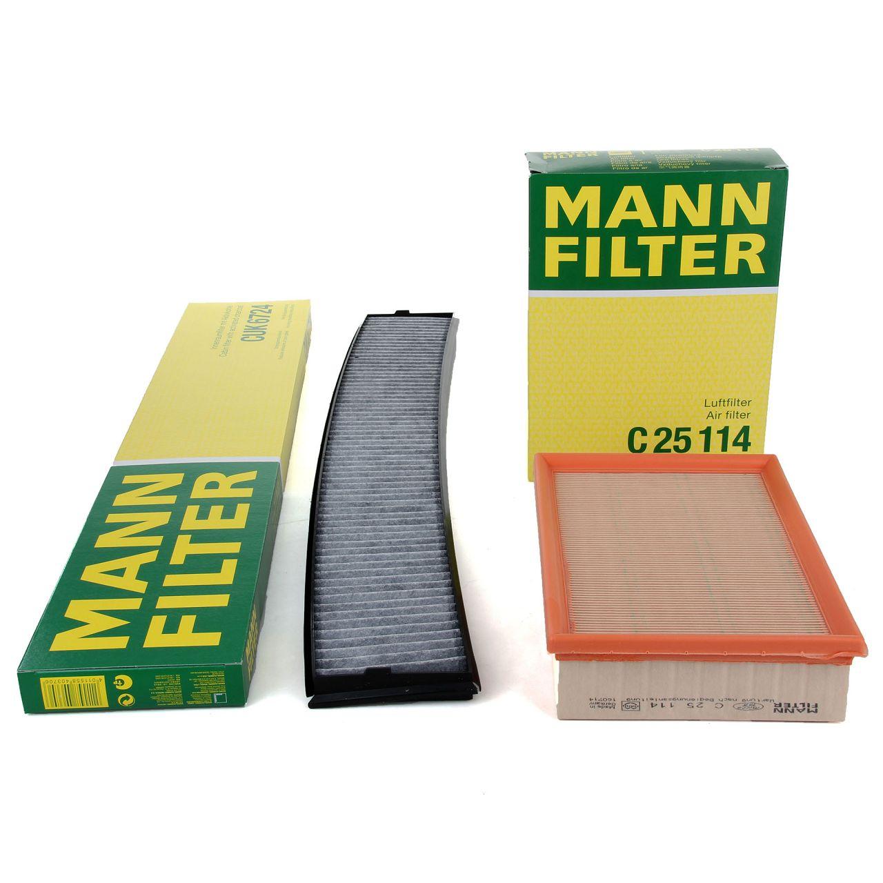 MANN Filterset für BMW 3er E46 316-330i M3 3.2 X3 E83 2.5i 3.0i xDrive25/30i