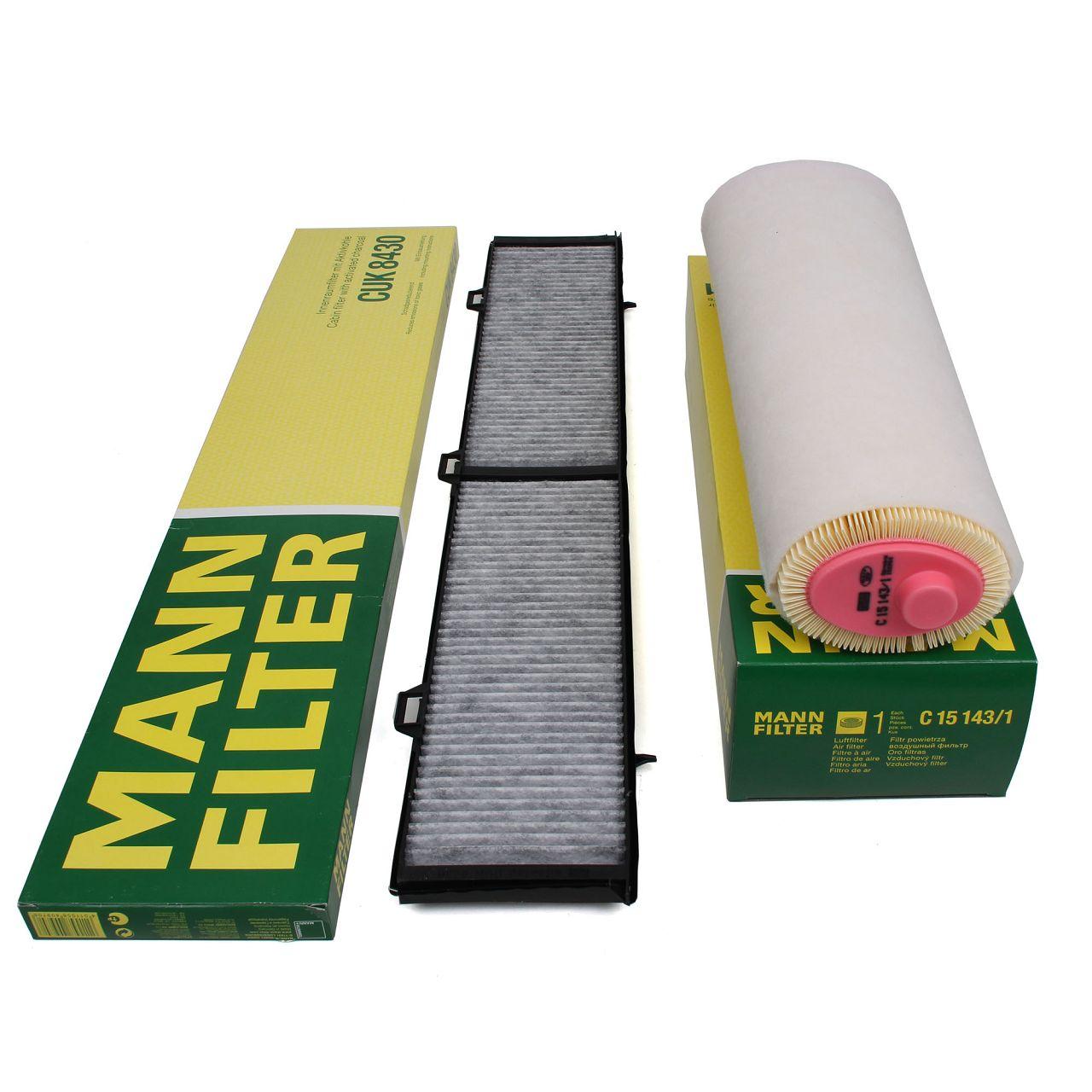 MANN Inspektionskit Filterpaket für BMW 3er E90 E91 E92 E93 325d 330d 197/231 PS