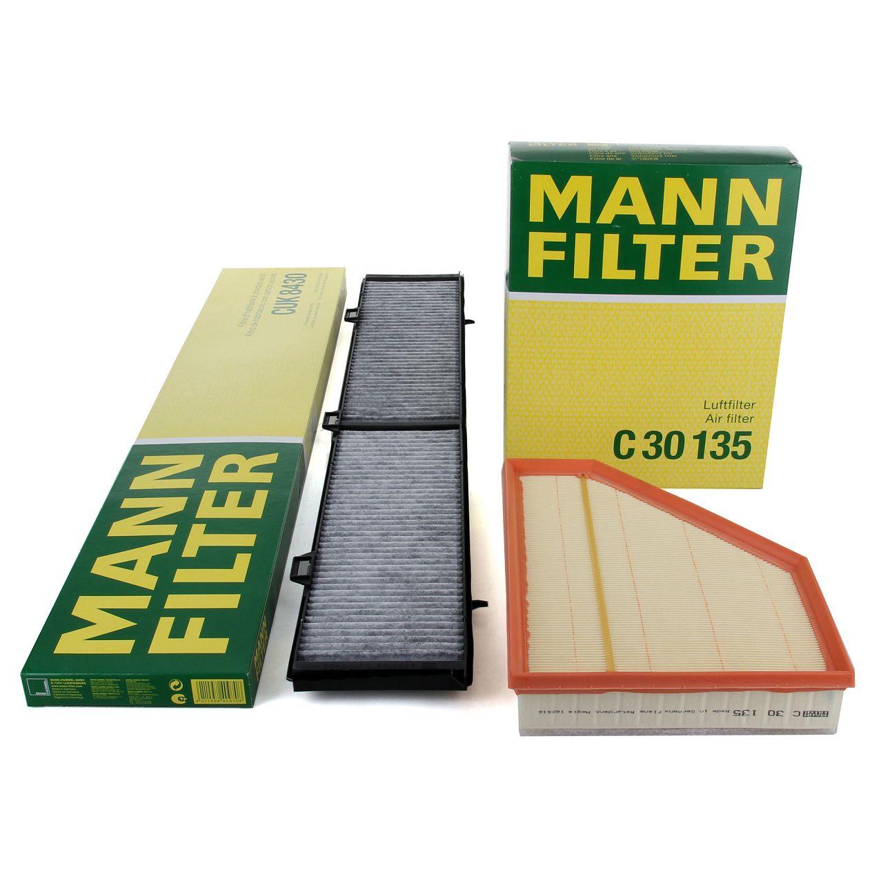 MANN Filterset für BMW 1er E81-88 116-123d 3er E90-93 316-335d X1 E84 16-23d