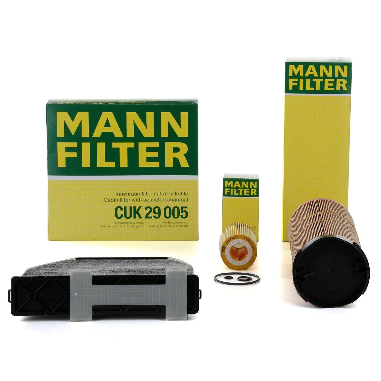 MANN Filterset für MERCEDES C-KLASSE W204 S204 C200CDI C220CDI 136/163/170 PS