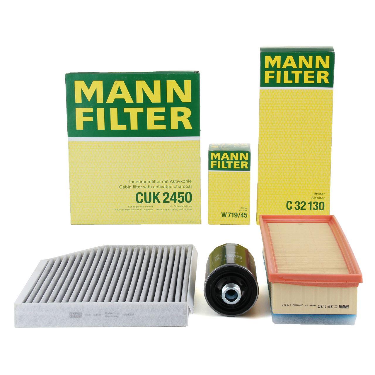 MANN Inspektionskit für AUDI A4 (8K B8) A5 (8T 8F) Q5 (8R) 1.8 TFSI 2.0 TFSI