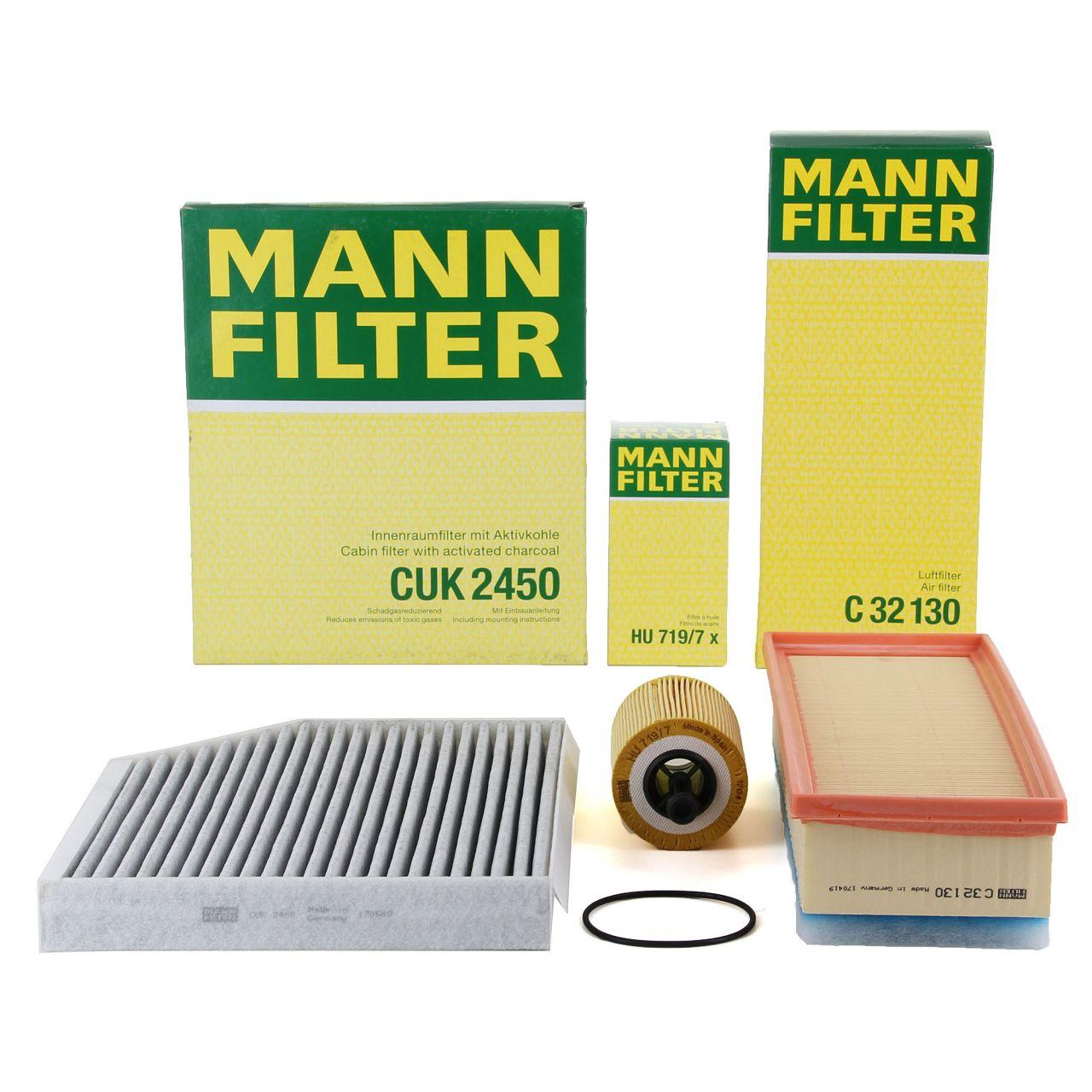 MANN Inspektionskit für AUDI A4 (8K B8) A5 (8T 8F) Q5 (8R) 2.0 TDI 120-177 PS