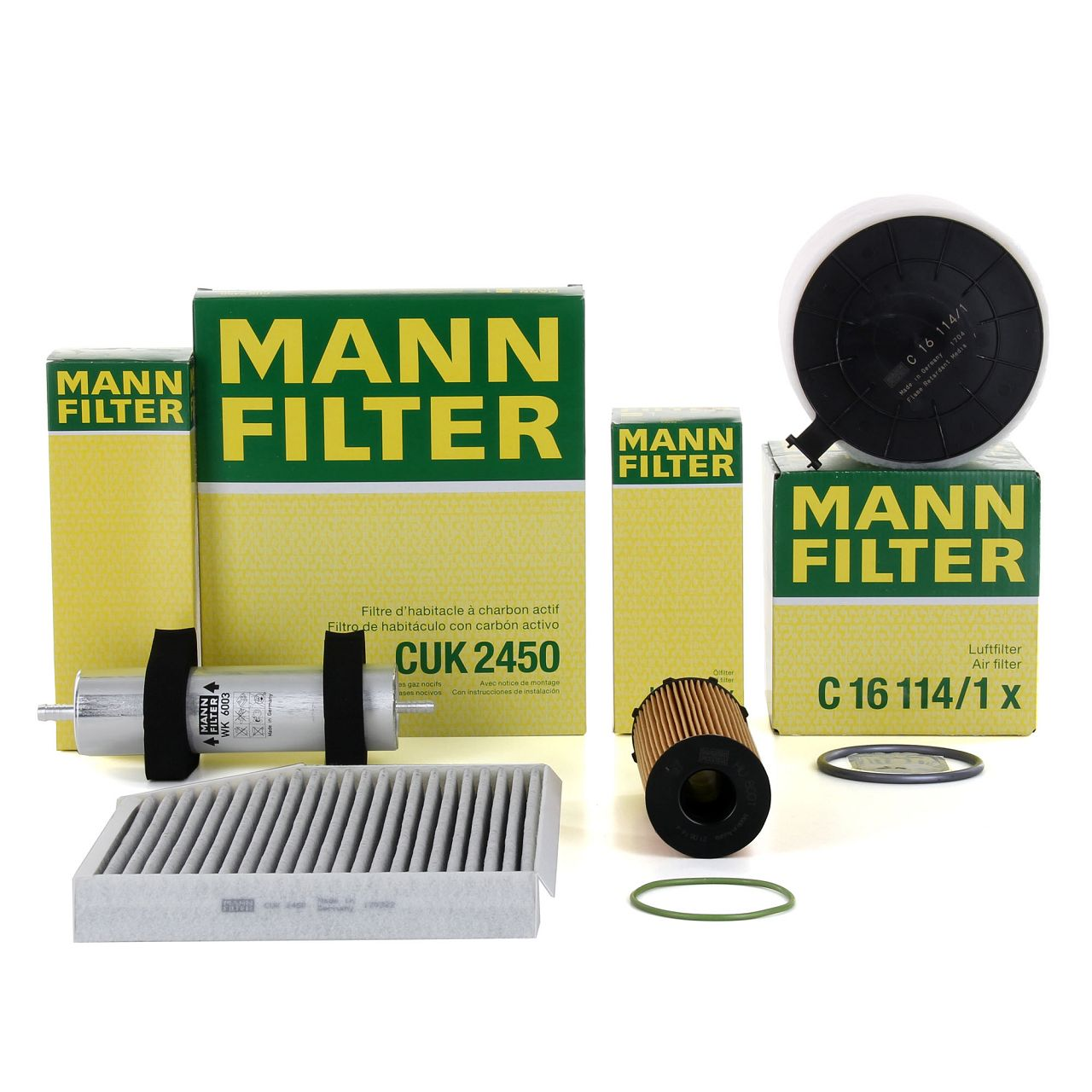 MANN Inspektionskit für AUDI A4 (8K B8) A5 (8T 8F) 2.7 TDI 3.0 TDI ab Fgst.-Nr.