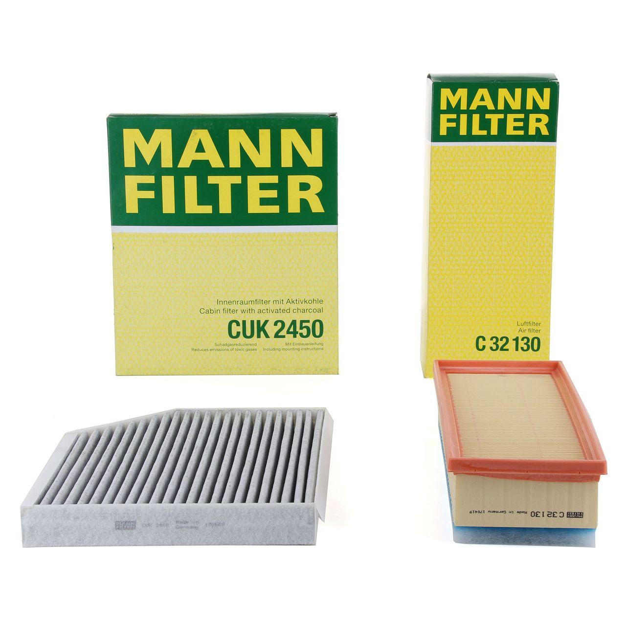 MANN Filterset für AUDI A4 (8K B8) A5 (8T 8F) Q5 (8R) 1.8 TFSI 2.0 TFSI 2.0 TDI