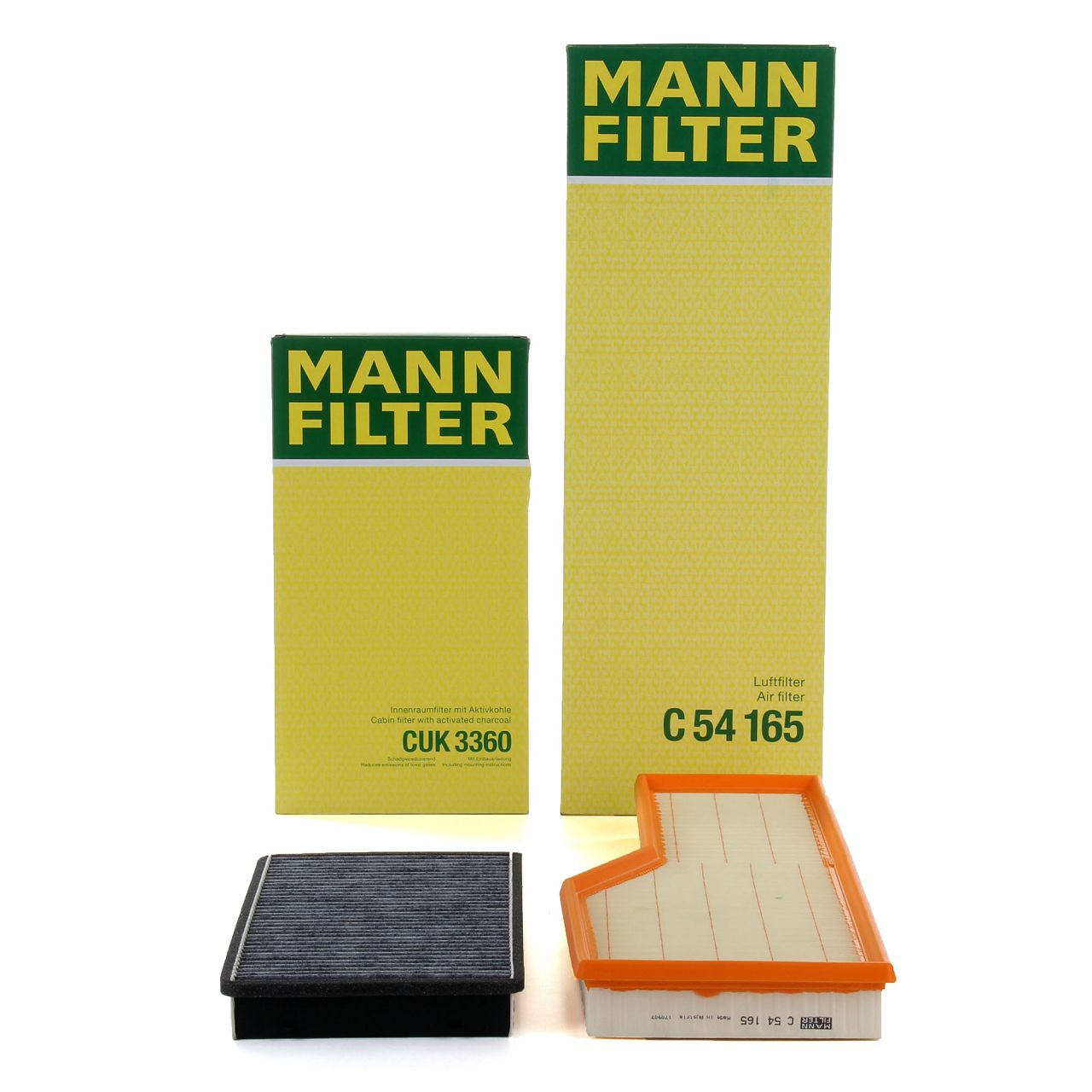 MANN Filterpaket Filterset für PORSCHE 911 (996 997) 3.4 / 3.6 / 3.8 Carrera