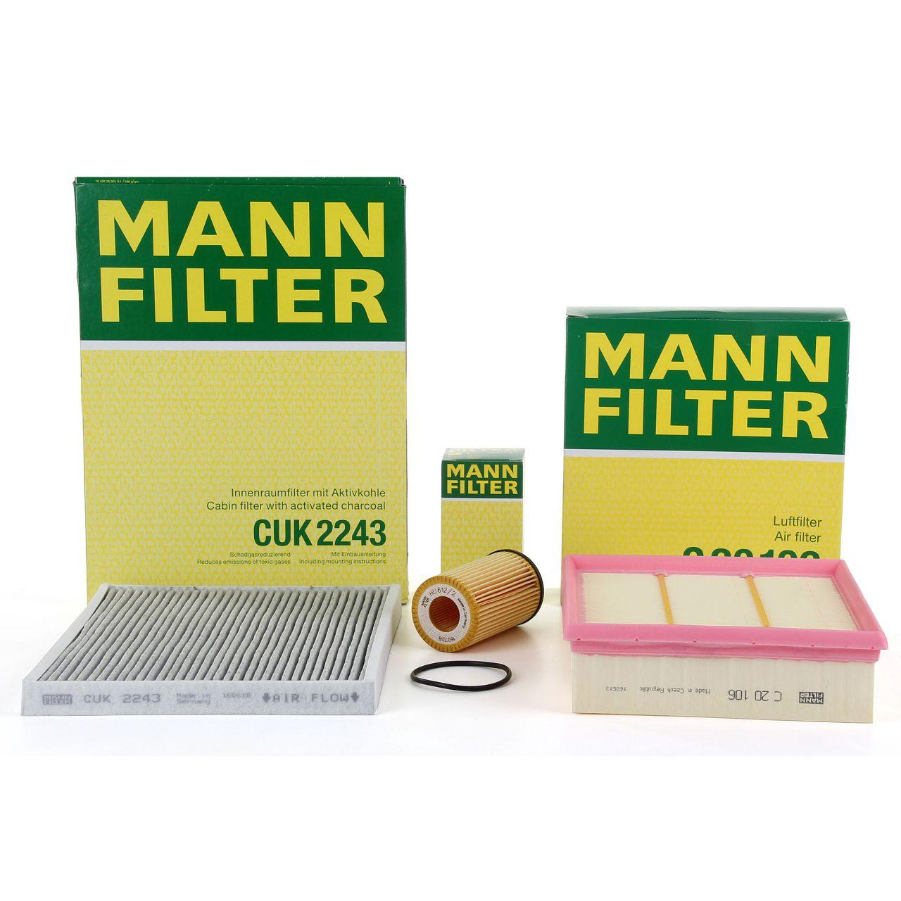 MANN Inspektionskit Filterpaket für OPEL CORSA D 1.0 1.2 1.4 + CORSA E 1.2 1.4