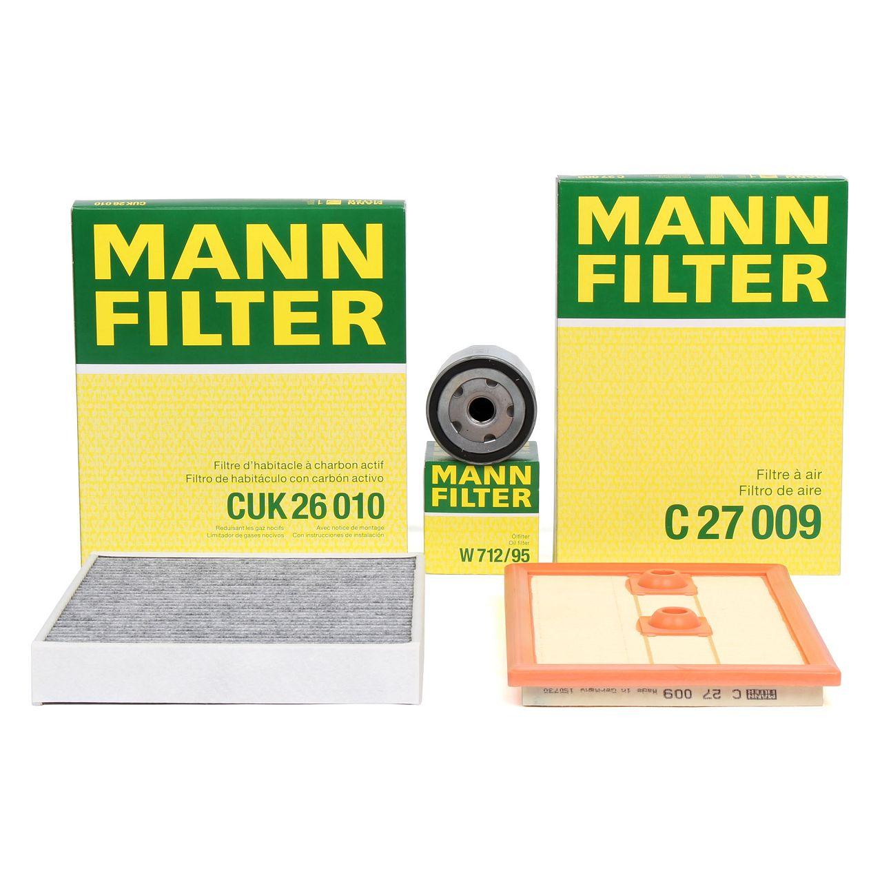 MANN Filterset für AUDI A1 SEAT IBIZA SKODA RAPID VW POLO (6R 6C) 1.2/1.4 TSI