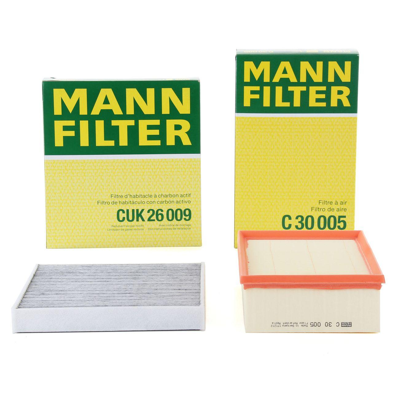 MANN Filterset für AUDI A3 8V Q2 TT SEAT LEON SKODA OCTAVIA VW GOLF 7 PASSAT