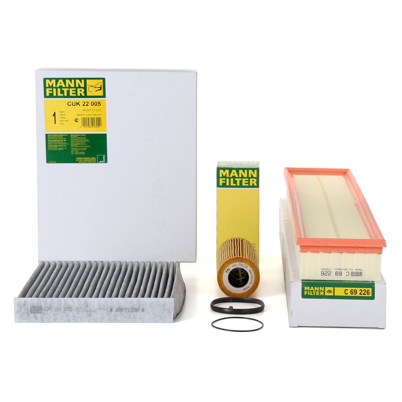 MANN Inspektionskit Filterpaket für PORSCHE PANAMERA (970) 3.0 S E-Hybrid 333 PS