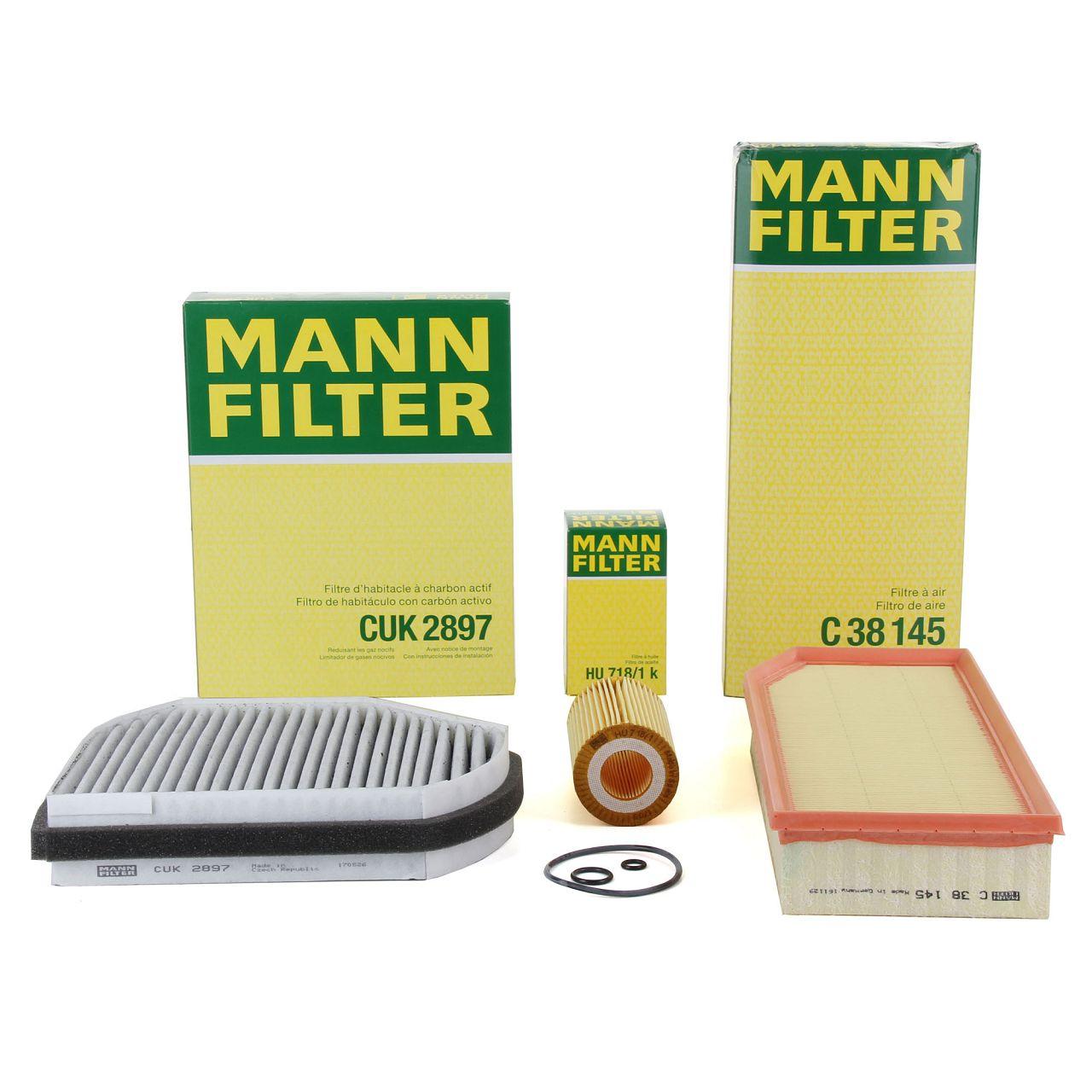 MANN Filterpaket Filterset für MERCEDES-BENZ E-KLASSE W210 S210 E200/220/270CDI