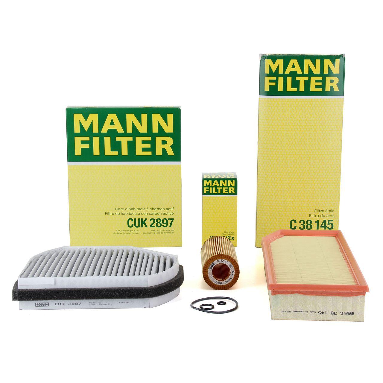 MANN Inspektionskit Filterpaket für MERCEDES-BENZ E-KLASSE W210 E320CDI 197 PS