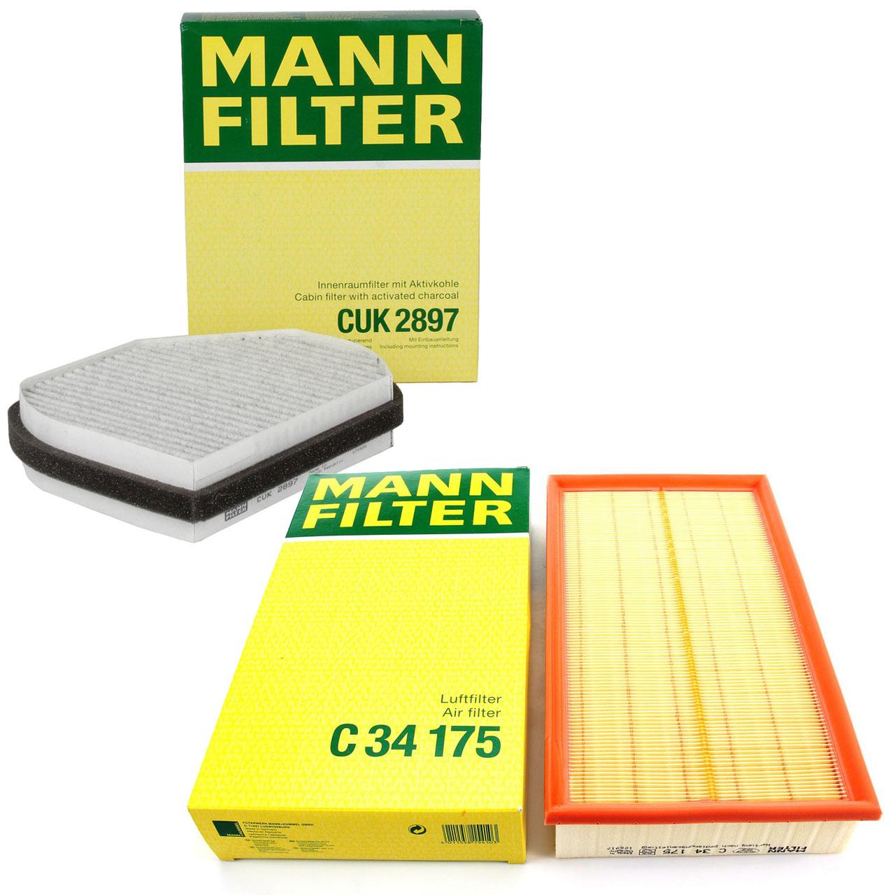 MANN Filterpaket Filterset für MERCEDES-BENZ E-KLASSE W210 E200-430 E200-300D