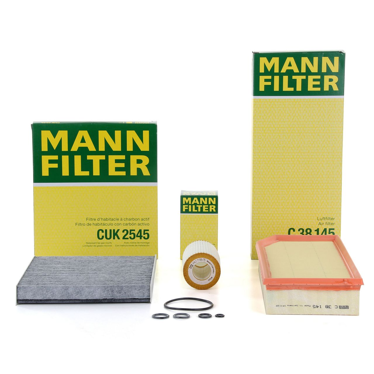 MANN Inspektionskit Filterpaket für MERCEDES-BENZ G-KLASSE W463 G270CDI 156 PS