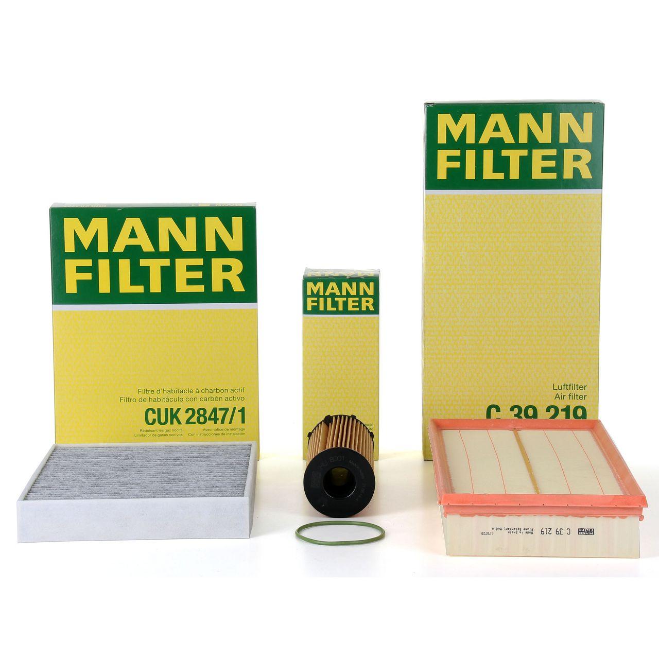 MANN Inspektionskit Filterpaket für PORSCHE CAYENNE (92A) 3.0 Diesel 239 PS