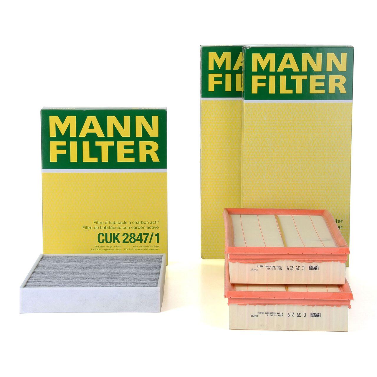 MANN Filterset für PORSCHE CAYENNE (92A) 4.8 4.2 DIESEL VW TOUAREG (7P5) 4.2 V8