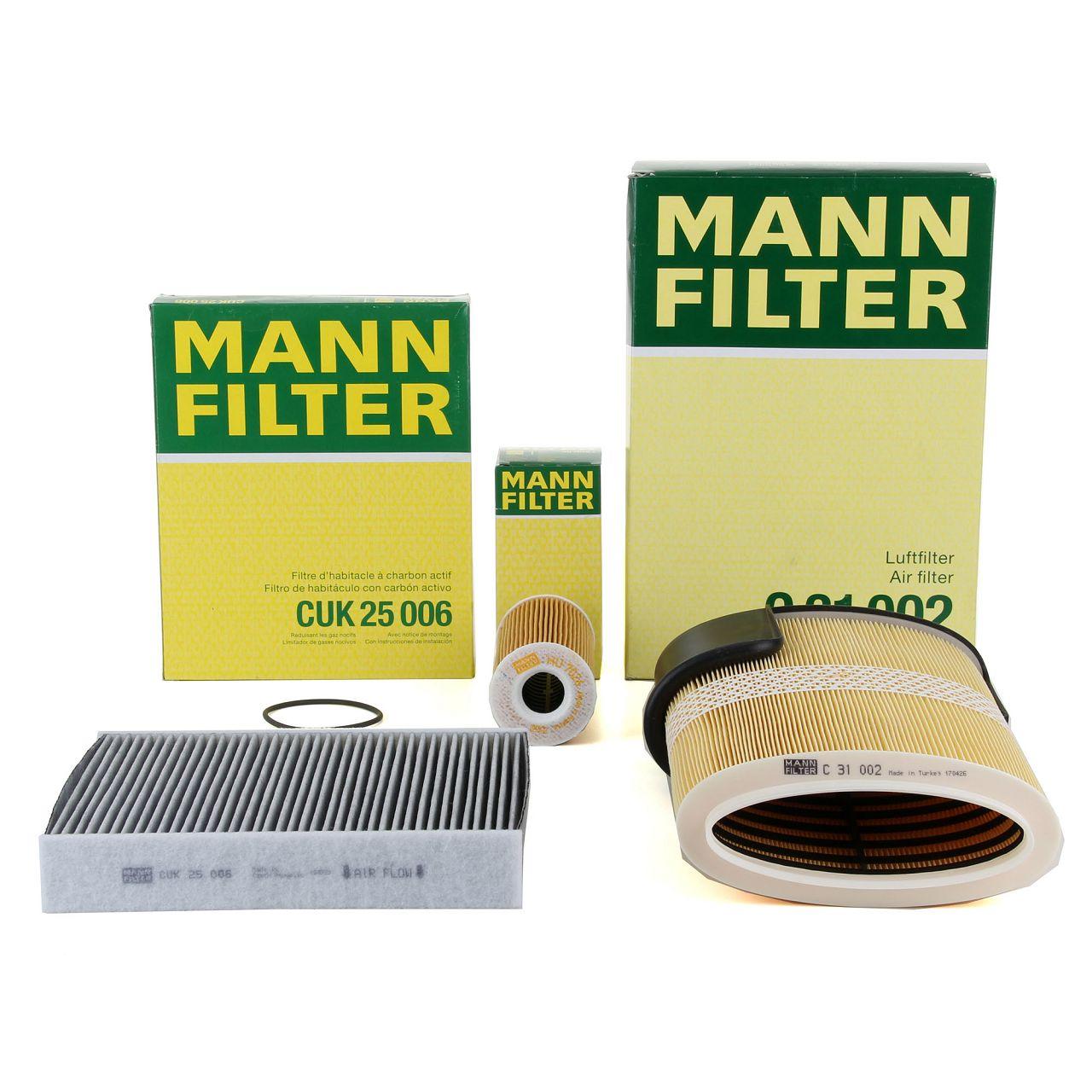 MANN Filterset für PORSCHE BOXSTER CAYMAN (981) 2.7 + S 3.4 + GTS 3.4 + 3.8 GT4