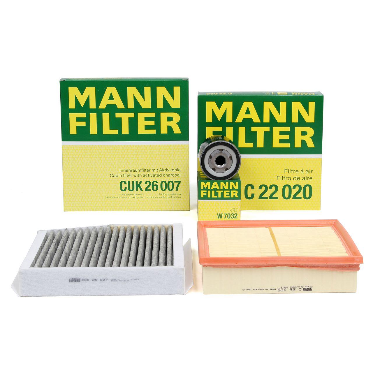 MANN Filterset für MERCEDES W176 W246 W242 C/X117 X156 160 CDI / d 180 CDI / d