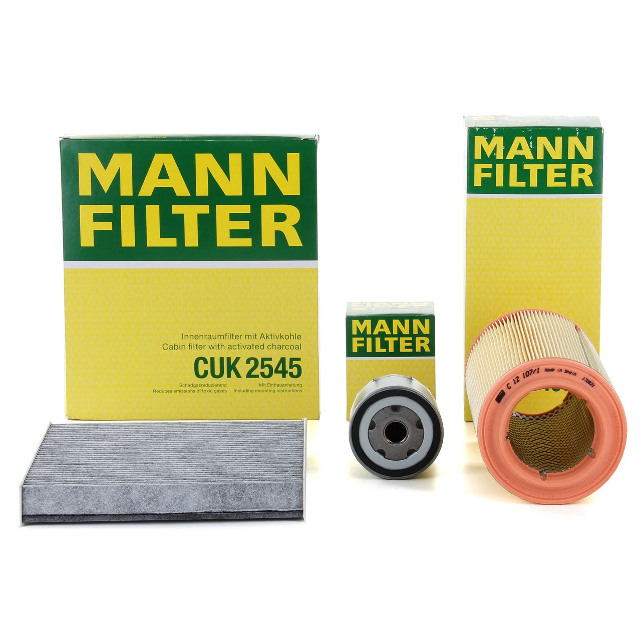 MANN Inspektionskit Filterpaket für AUDI A2 (8Z0) 1.4 75 PS + 1.6 FSI 110 PS