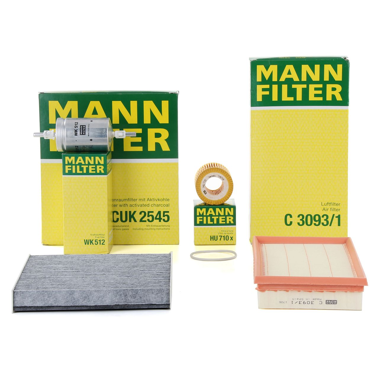 MANN Filterpaket Filterset für SEAT CORDOBA IBIZA IV SKODA FABIA I 1.2 64/70 PS