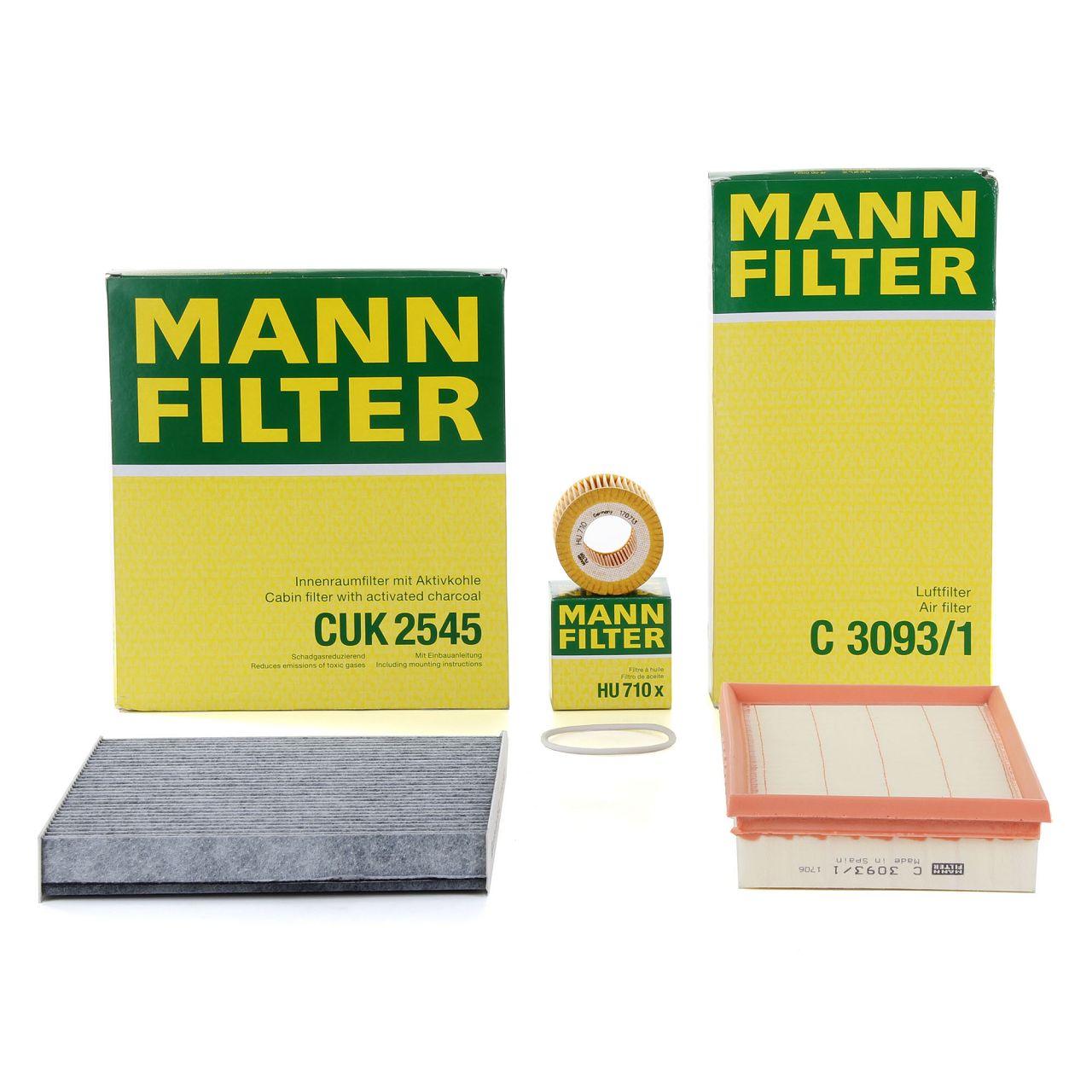 MANN Filterset für SEAT IBIZA IV SKODA FABIA I ROOMSTER VW POLO (9N) 1.2 64 PS