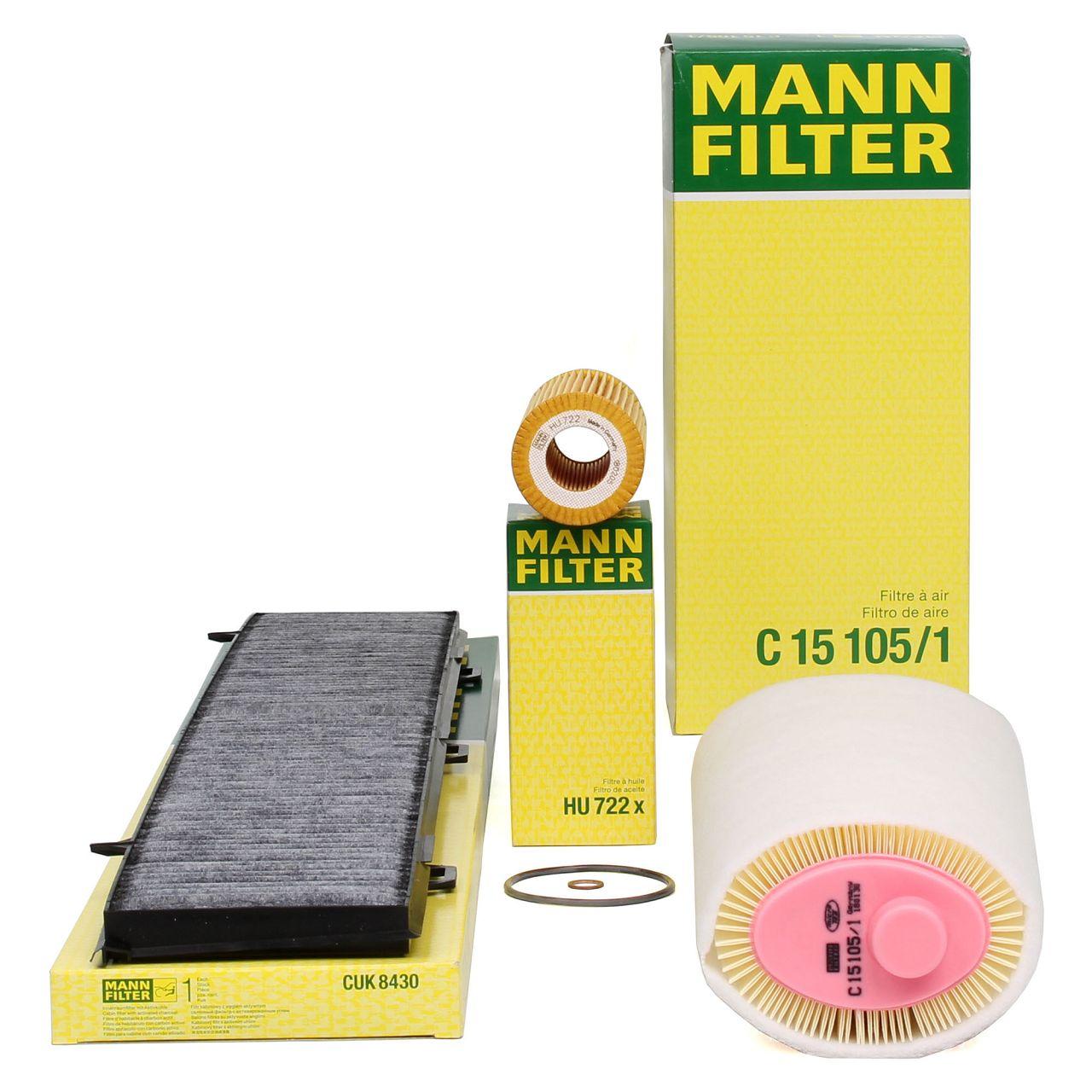 MANN Filterpaket Filterset für BMW 1er E81 E87 118d 120d 3er E90 E91 318d 320d