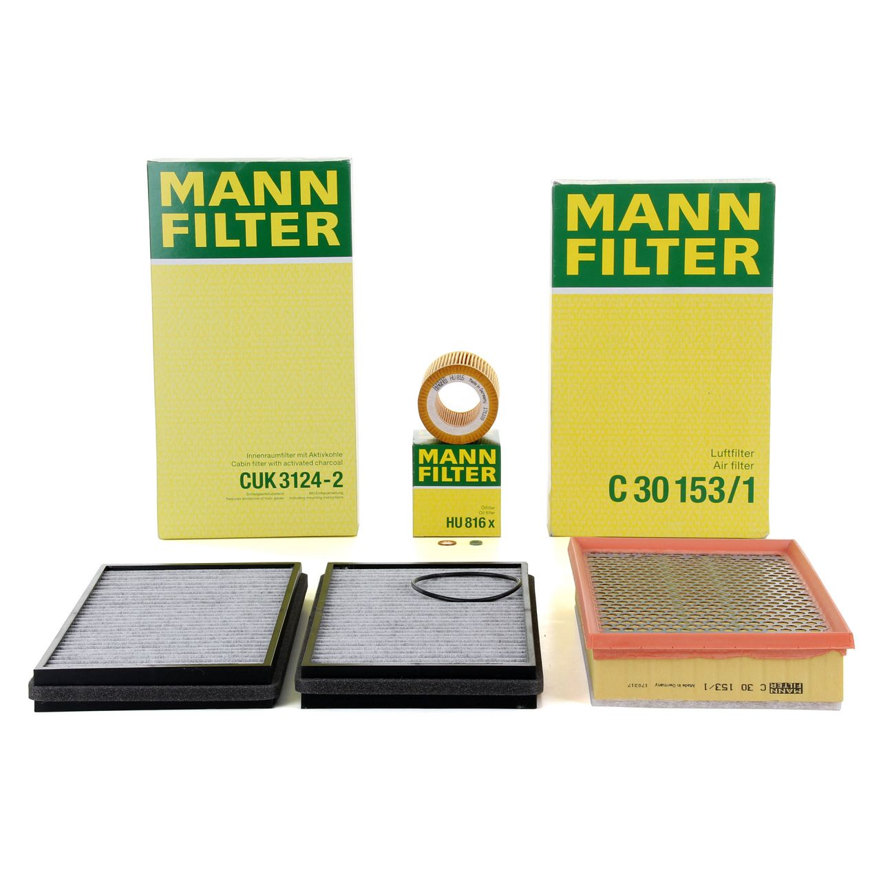 MANN Inspektionskit Filterpaket Filterset für BMW 7er E65 E66 730i 730Li 258 PS