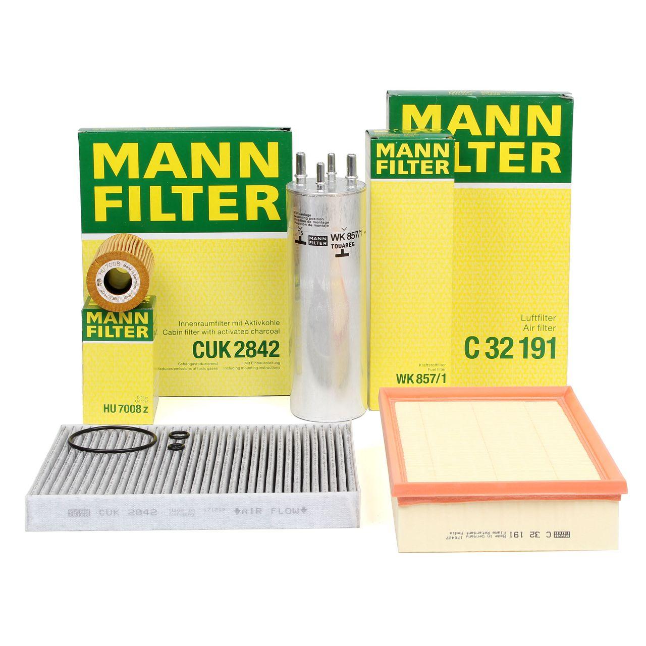 MANN Inspektionskit Filterpaket für VW MULTIVAN TRANSPORTER T5 2.0 TDI 84-140 PS
