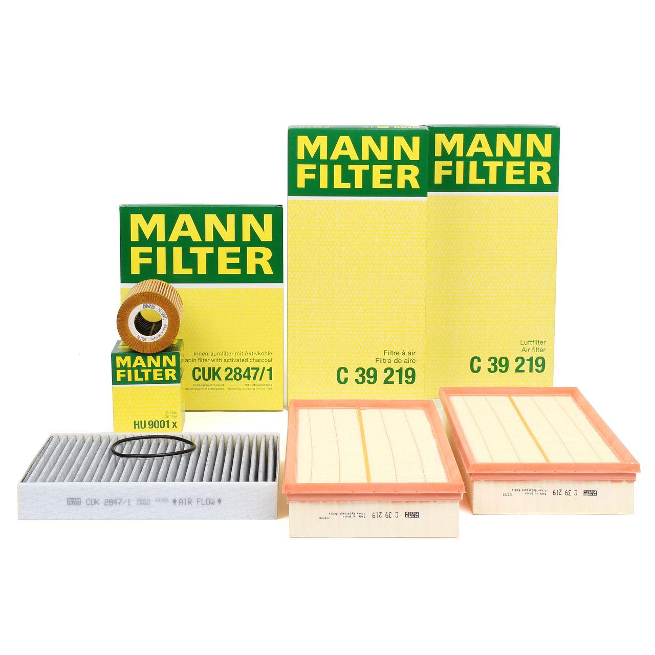 MANN Filterset für PORSCHE CAYENNE (92A) 4.8 S / 4.8 GTS / 4.8 Turbo / Turbo S