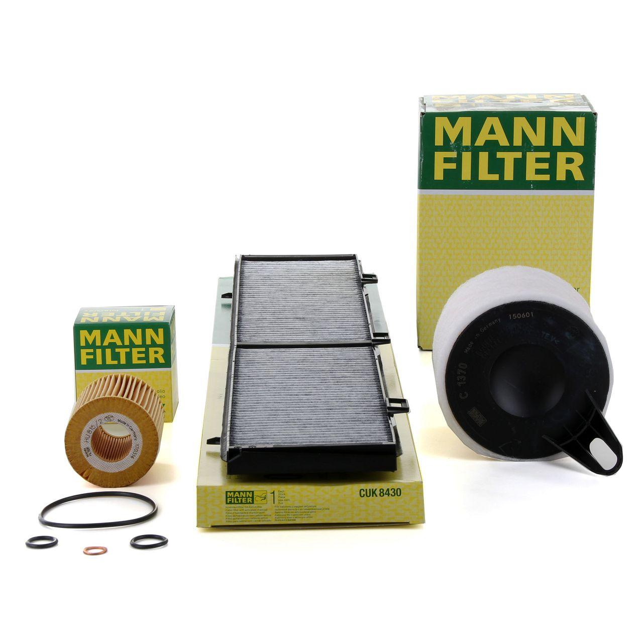 MANN Filterset für BMW 1er E81 E87 116i 3er E90 E91 E92 316i 115 / 121 / 122 PS